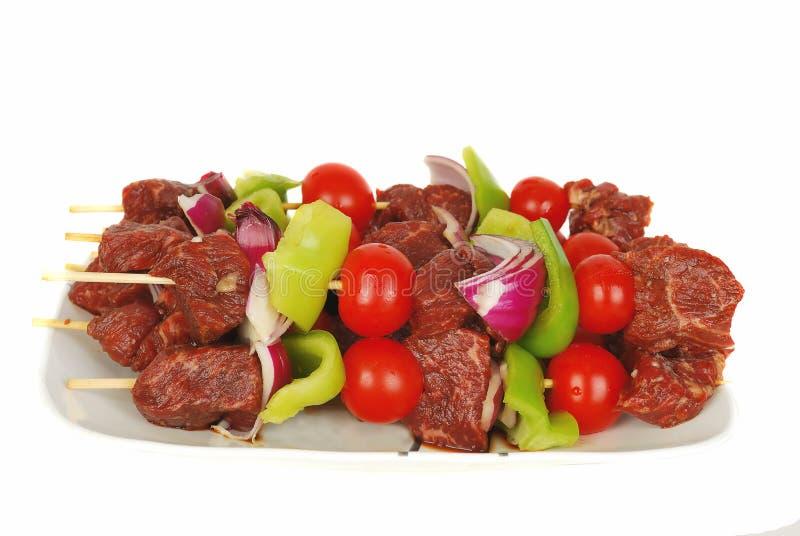 Kebab fresco. fotografia de stock royalty free