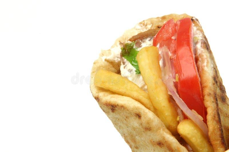 Kebab griego de los girocompases imagen de archivo libre de regalías