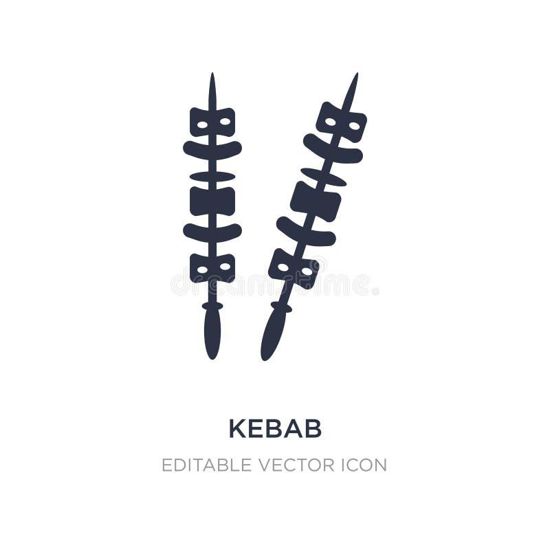 kebab ikona na białym tle Prosta element ilustracja od Karmowego pojęcia ilustracja wektor