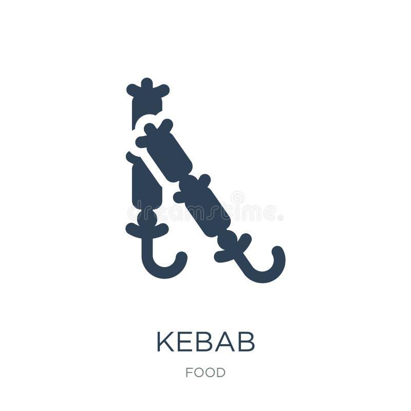 kebab ikona w modnym projekta stylu kebab ikona odizolowywająca na białym tle kebab wektorowej ikony prosty i nowożytny płaski sy royalty ilustracja
