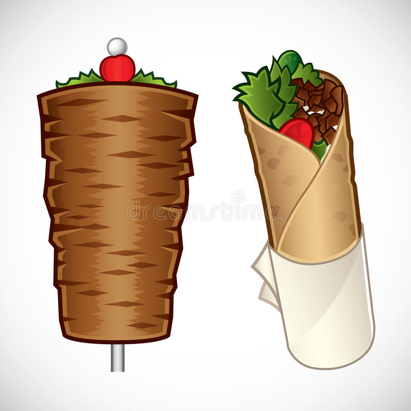 Kebab illustration stock illustration