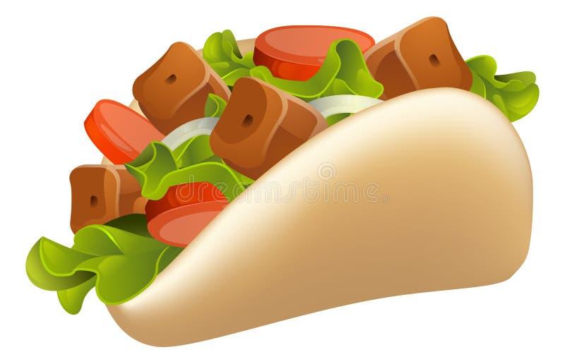 Kebab ilustracja ilustracja wektor