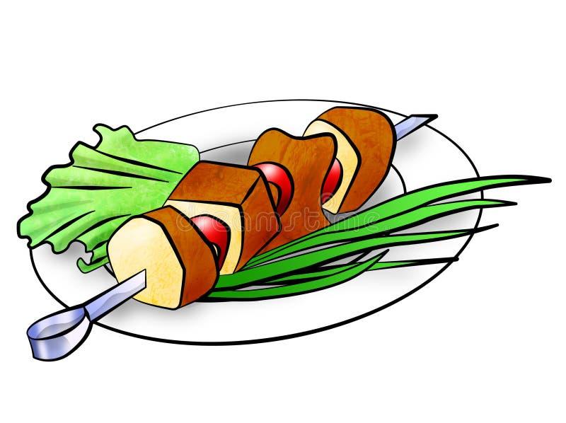 kebab ilustracyjny shish ilustracji