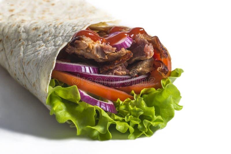 Kebab jugoso imagen de archivo