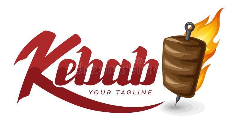 Kebab logo design stock illustration