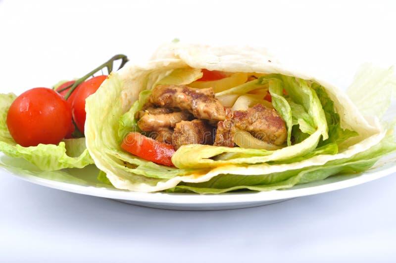 Kebab mit Gemüse stockbild