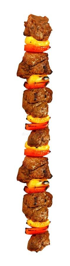 Kebab odizolowywał na biel obraz stock