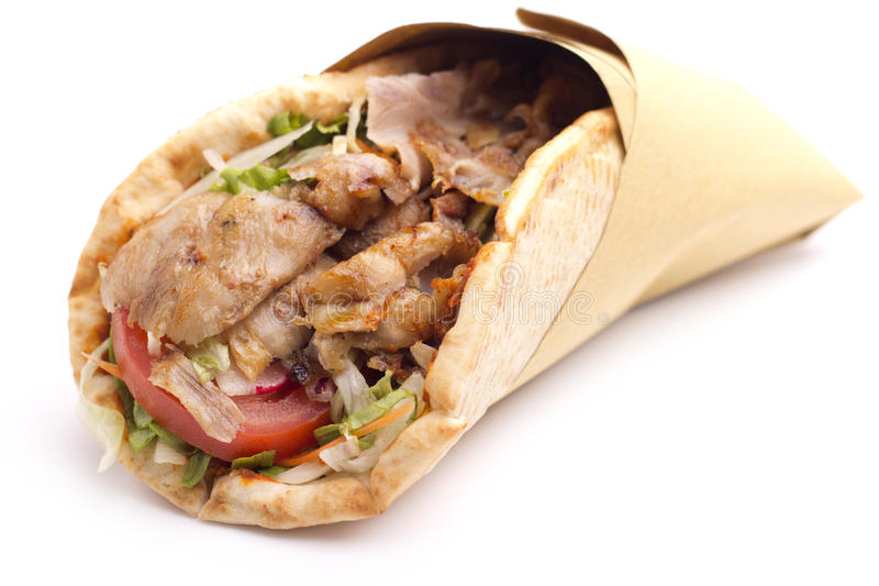 Kebab sandwich royalty free stock photography