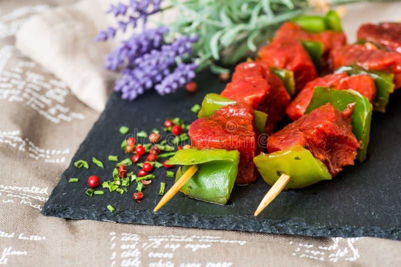 Kebab saporiti della bistecca di manzo immagine stock