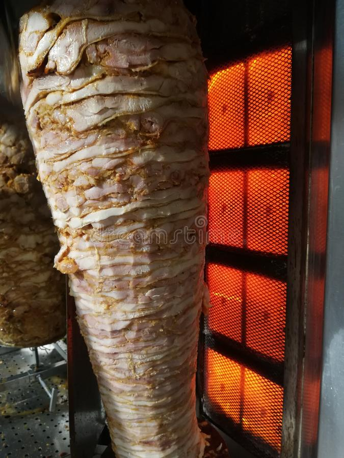 Kebab Sawarma meat. Kebab sawarma durum, food, turkish, greek, burger royalty free stock photography