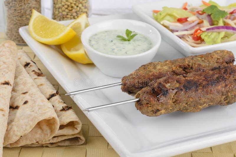 kebab seekh 库存照片