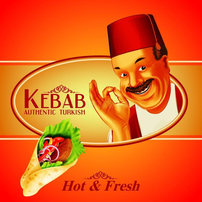Kebab smakowity royalty ilustracja