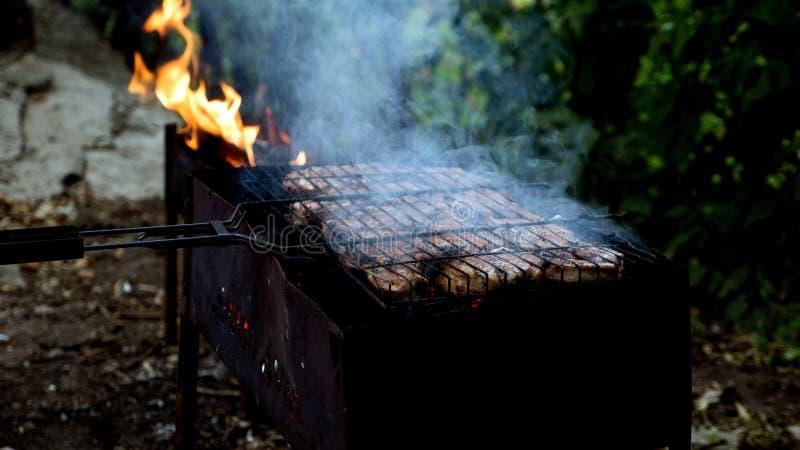 Kebab sulla griglia fotografie stock