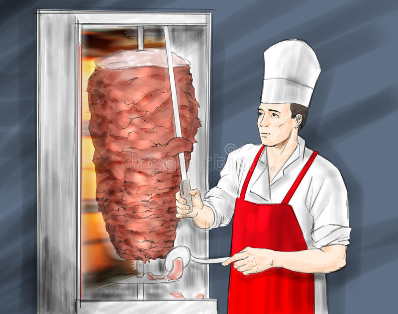 Kebab turco libre illustration