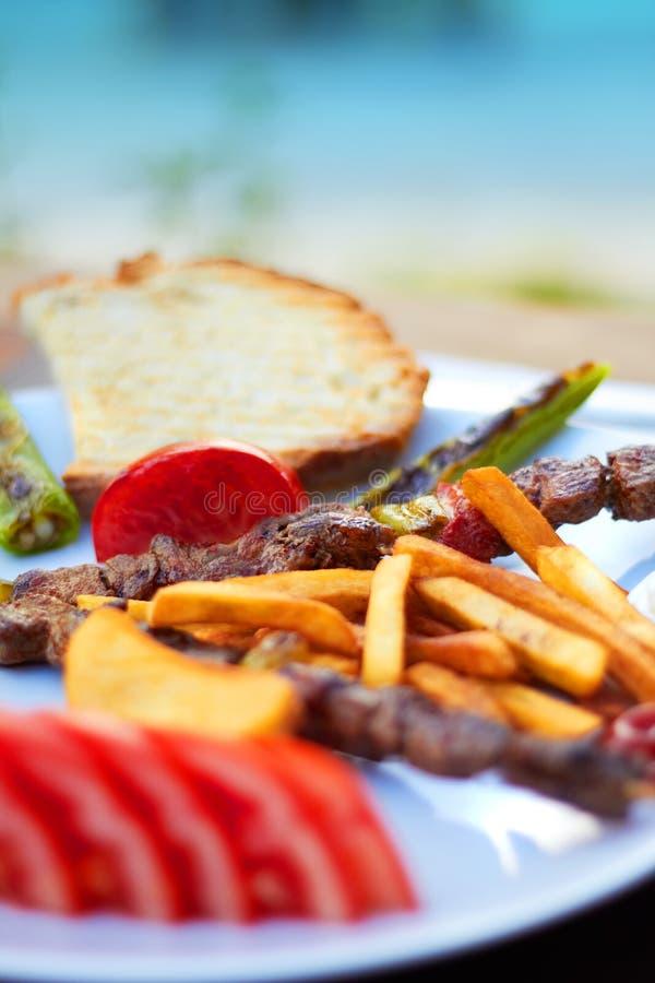 Kebab turco de Shish imagem de stock