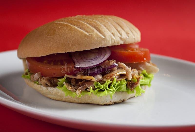 Kebab turco del doner fotografia stock libera da diritti