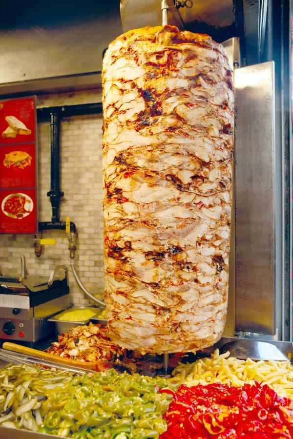 Kebab turco del doner fotografie stock