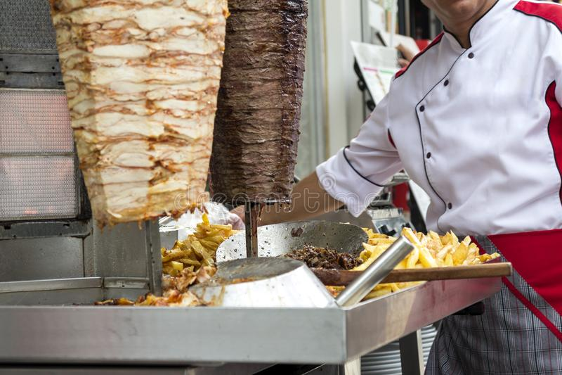 Kebab turco do doner fotografia de stock royalty free