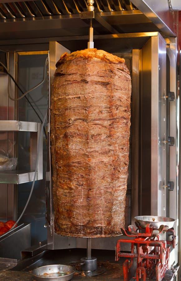 Kebab turco do doner da carne fotos de stock royalty free