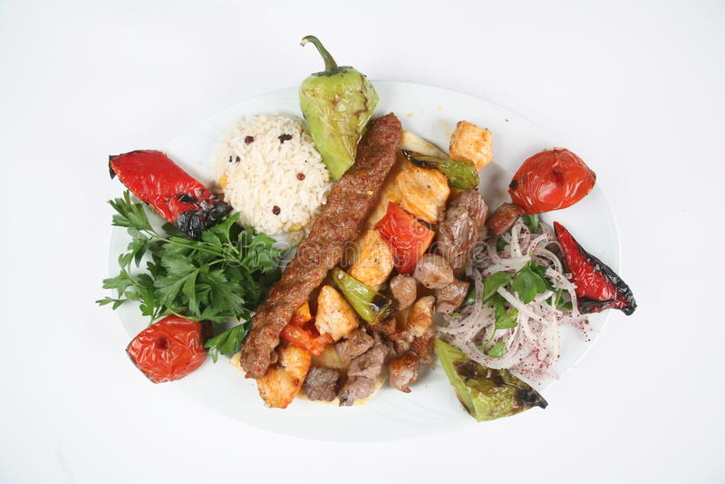 kebab turkish fotografia stock