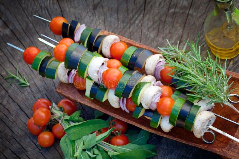 Kebab vegetal imagem de stock royalty free