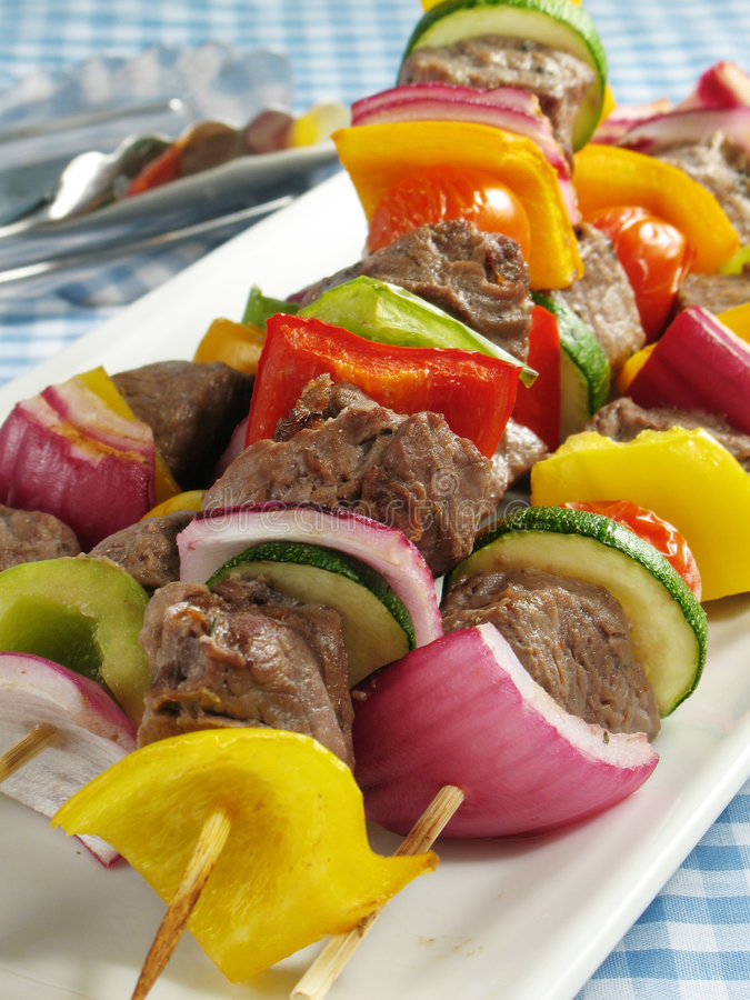 kebabs μπριζόλα στοκ φωτογραφία