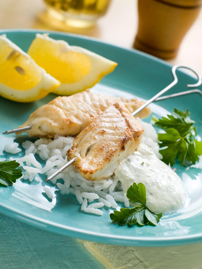 kebabs рыб стоковое изображение rf