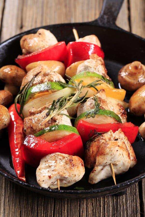kebabs цыпленка стоковое изображение