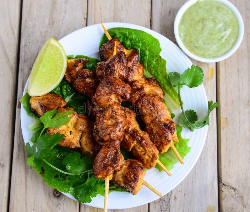 kebabs цыпленка стоковые изображения rf