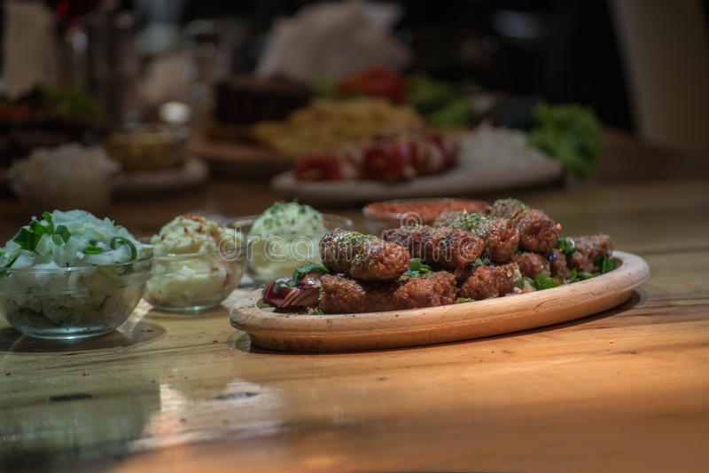 Kebabs -烤肉 免版税库存照片