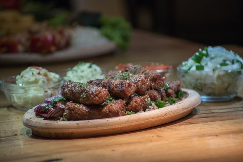 Kebabs -烤肉 图库摄影