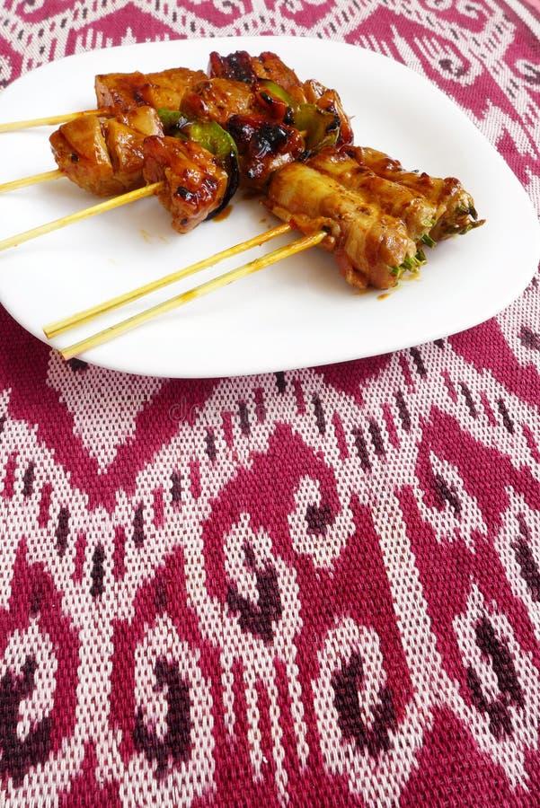 Kebabs Asiatsart stockfoto