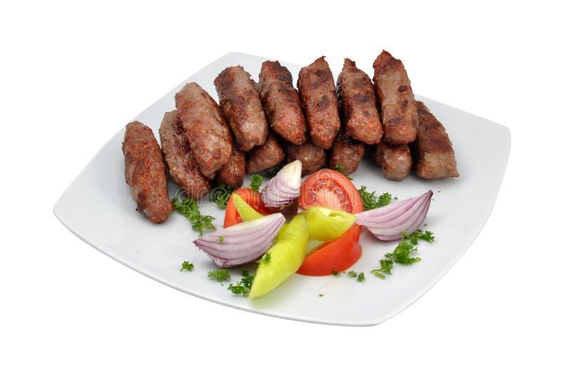 Kebabs avec de la salade photos libres de droits