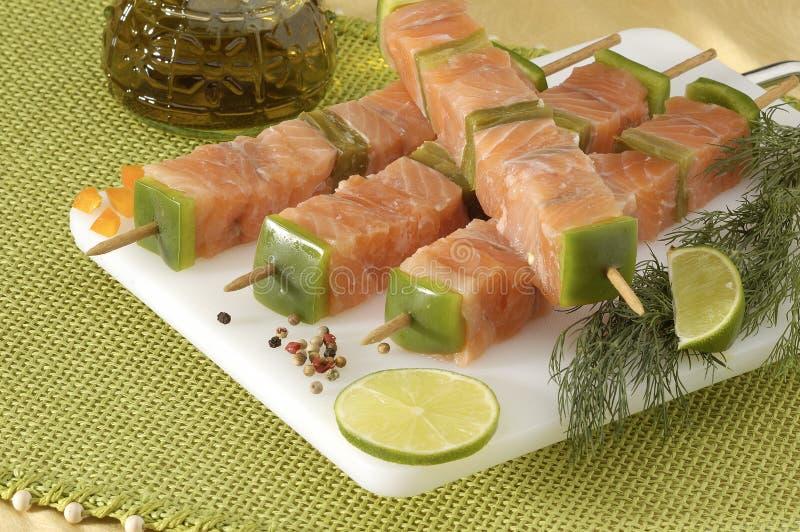 kebabs salmon стоковые изображения rf