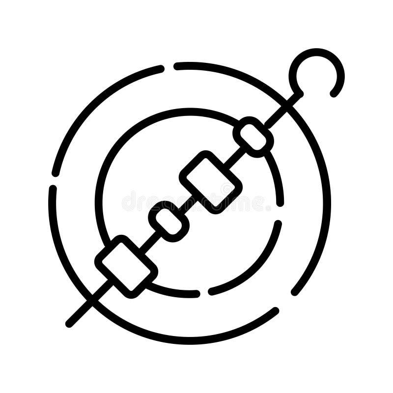 Kebabsymbol vektor illustrationer