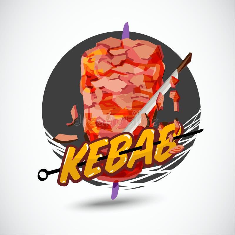 Kebabu logo - wektor ilustracji