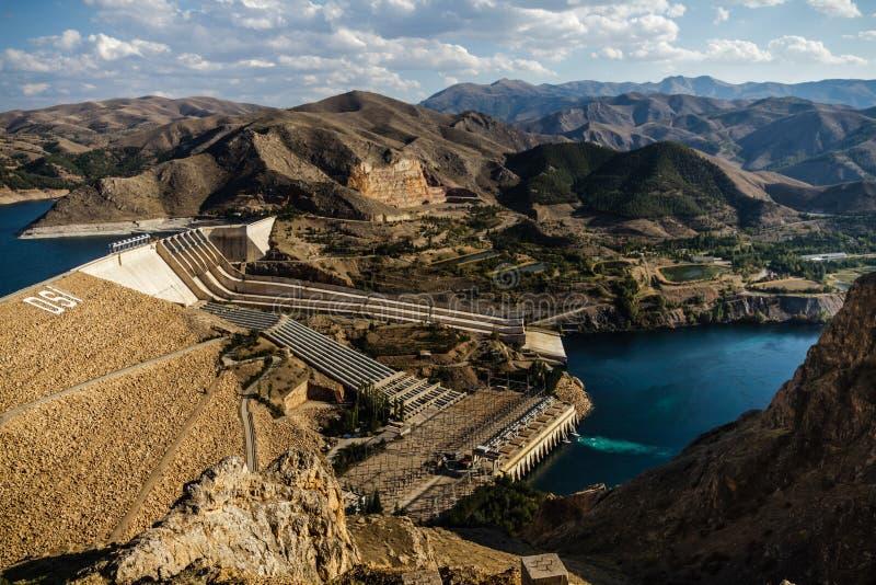 Keban, een Hydro-elektrische Energiedam stock foto
