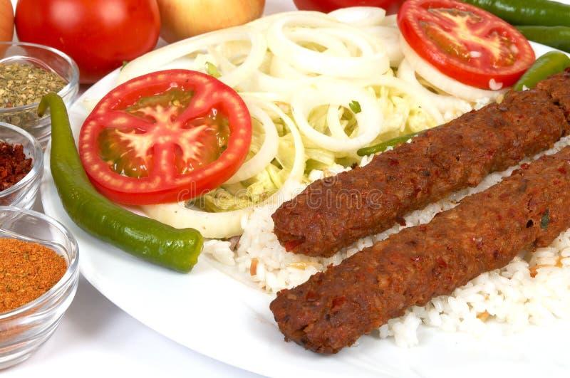 Kebap de Adana imagem de stock royalty free