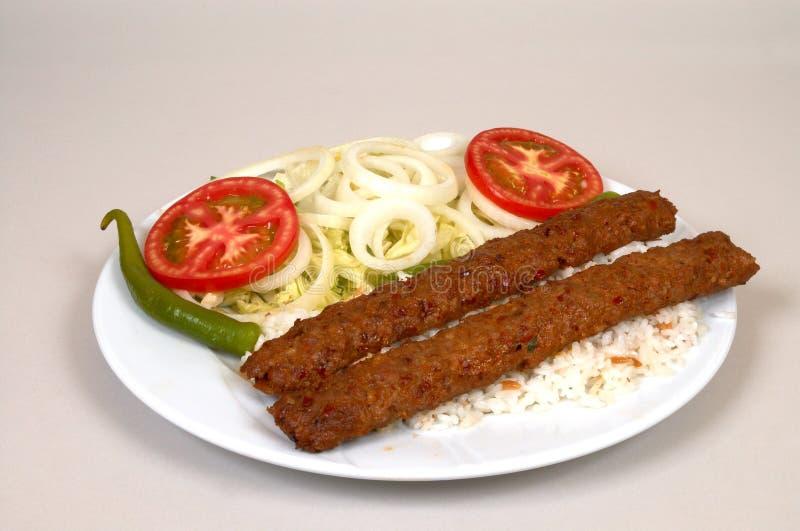 Download Kebap de Adana foto de archivo. Imagen de cocina, salsas - 1294756