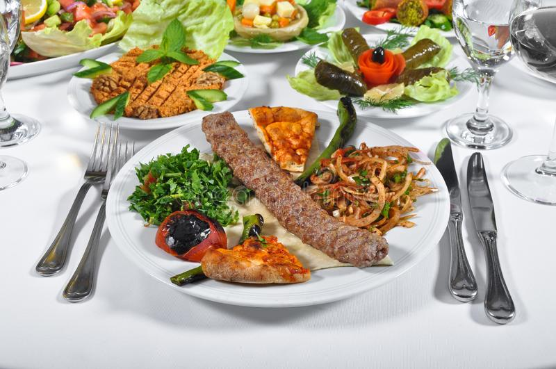 Kebap dell'Adana, carne cotta fotografie stock