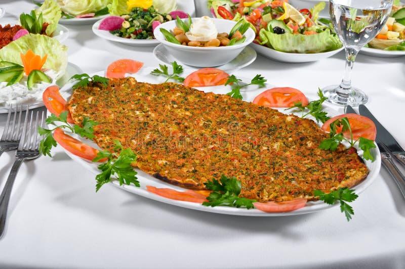 Kebap turco do lahmacun fotografia de stock royalty free