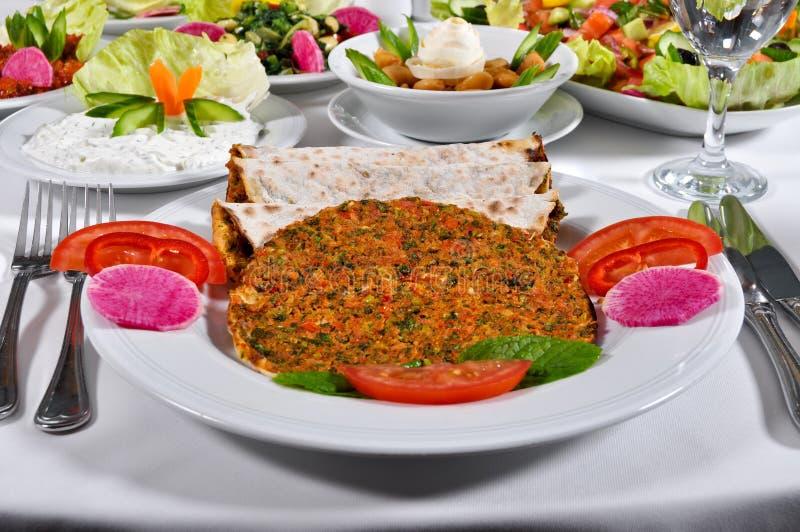 Kebap turco do lahmacun foto de stock royalty free