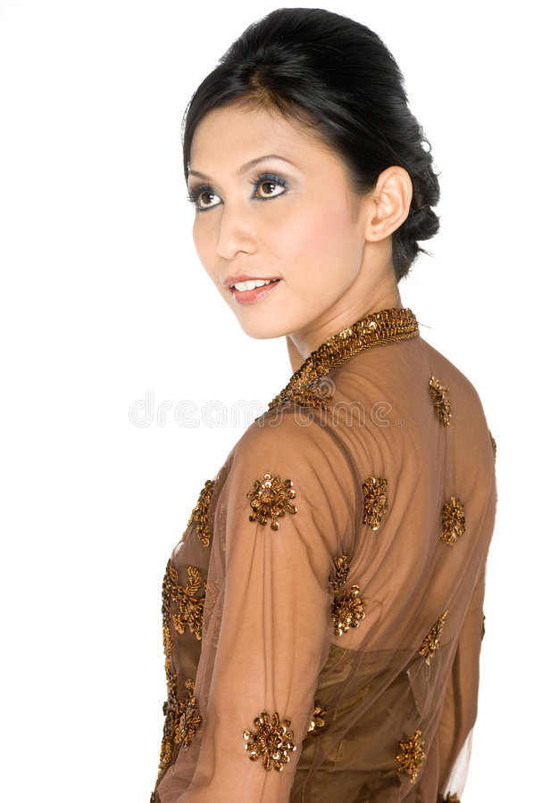 Kebaya tradicional imagens de stock royalty free