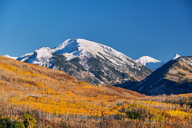 Kebler Pass in Colorado Rocky Mountains. Autumn landscape at Kebler Pass in Colorado Rocky Mountains, USA stock photos