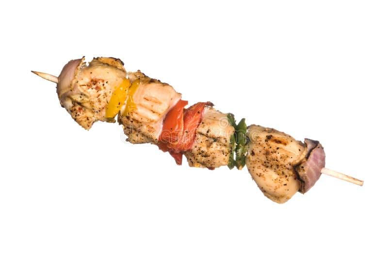 Kebob del pollo imagenes de archivo