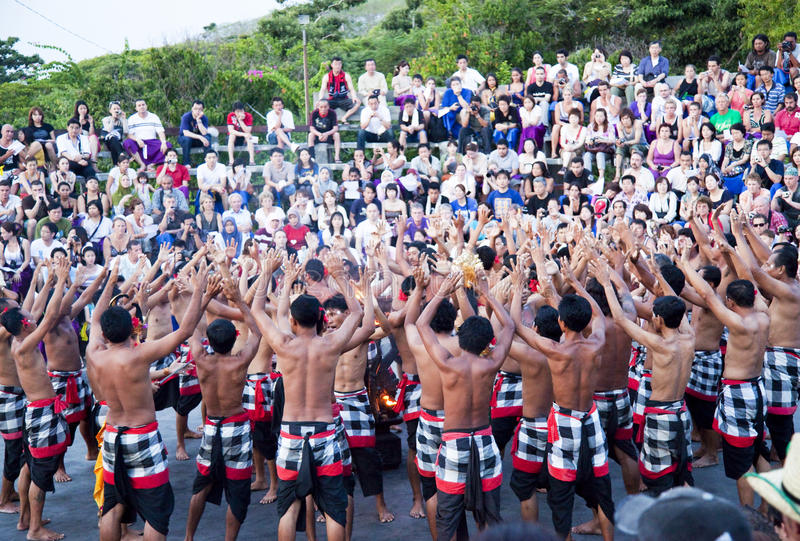 Download Kecak And Trance Dance At Dusk, Bali, Indonesia Editorial Stock Image - Image: 14377059