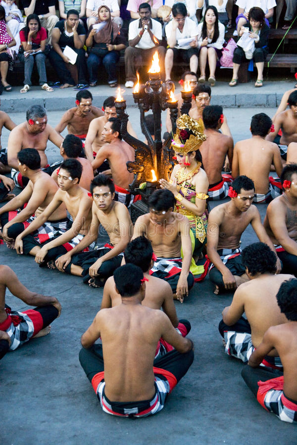 Download Kecak And Trance Dance At Dusk, Bali, Indonesia Editorial Photo - Image: 14377186