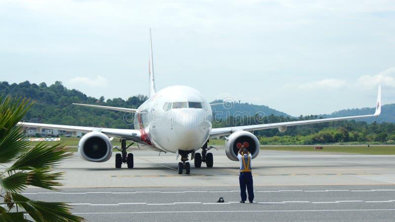 KEDAH, LANGKAWI, MALAYSIA - APR 11th, 2015: Malaysia Airline plane Boeing 737-800 at Langkawi international airport.  stock photo