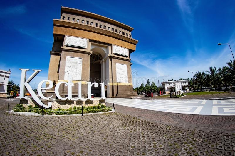 Kediri, Indonésie - 20 mars 2018 : Monument Simpang Lima Gumul images stock