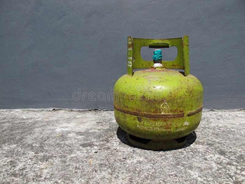 Kediri, Indonesia - December 01, 2018: Pertamina Gas Bottle. Kediri, Indonesia - December 01, 2018: Pertamina Gas LPG Bottle royalty free stock photography